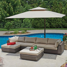 Riverside 5-Piece Wicker Sectional Set