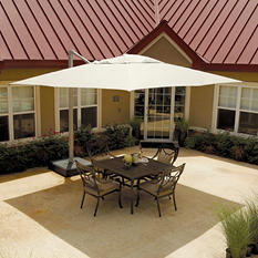 11.5 Ft. x 11.5 Square Commercial Cantilever Umbrella with Protective Cover