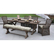 Reneés 6-Piece Dining Set with Premium Sunbrella Fabric