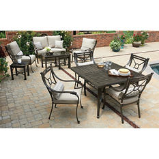 Matera 11-Piece Seating Set & Dining Set Combo with Premium Sunbrella Fabric