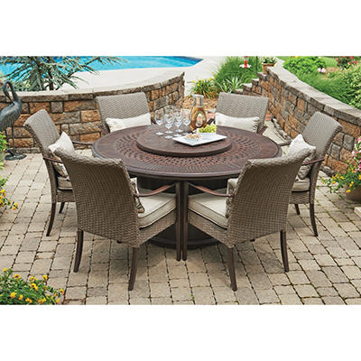 Fairbanks 8-Piece Fire Dining Set