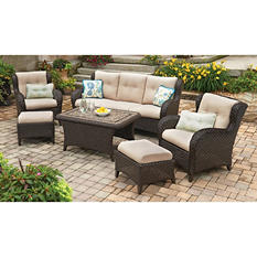 Member's Mark Heritage 6-Piece Deep Seating Set with Premium Sunbrella Fabric