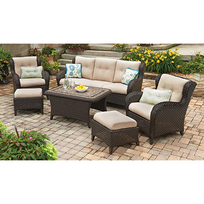 Heritage 6-Piece Deep Seating Set with Premium Sunbrella Fabric
