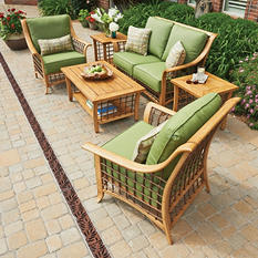 Santa Clara Conversation Set with Premium Sunbrella Fabric (6 pc.)