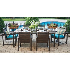 Ventura 7-Piece Dining Set with Premium Sunbrella Fabric