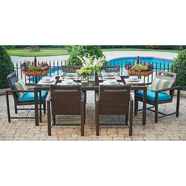 Ventura 7-Piece Dining Set with Premium Sunbrella Fabric
