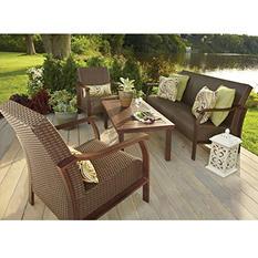 Nevis 4-Piece Deep Seating Set with Premium Sunbrella Fabric