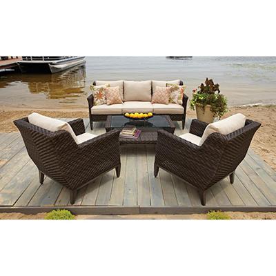 Elijah 4-Piece Deep Seating with Premium Sunbrella Fabric