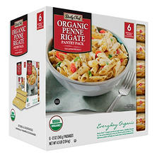 Daily Chef Organic Penne Rigate Pantry Pack (12 oz., 6 pk.)