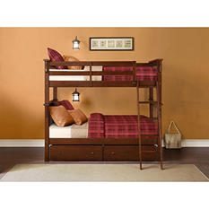 Whitman Twin Bunk Bed with Storage Drawers