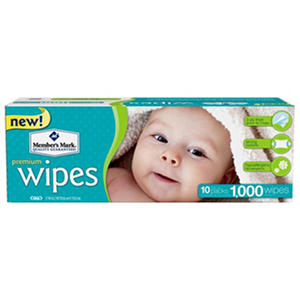 Member's Mark Premium Baby Wipes, 1000 ct. (10 packs of 100)