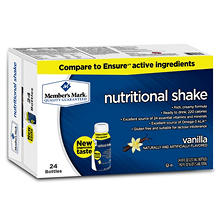 Member's Mark Nutritional Shake, Vanilla (8 fl. oz., 24 ct.)