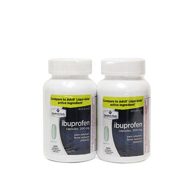Member's Mark 200mg Ibuprofen Softgels Tablets, 200 ct. (2 pk.)