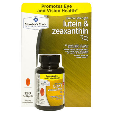 Member's Mark Lutein & Zeaxanthin Dietary Supplement (120 ct.)