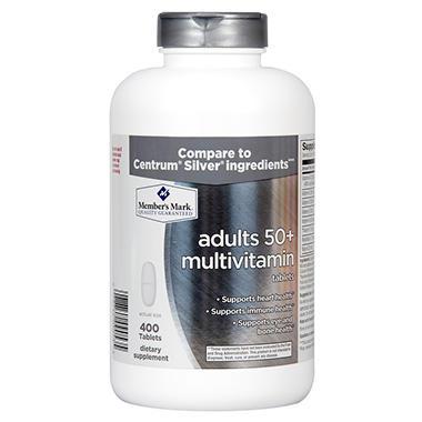 Member's Mark Adults 50+ Multivitamin (400 ct.)