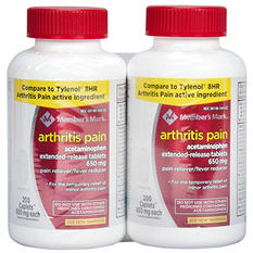 Member's Mark 650 mg Arthritis Pain Tablets (200 ct., 2 pk.)