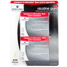Member's Mark 4 mg Nicotine Gum, Original (320 ct.)