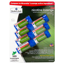 Member's Mark 4 mg Nicotine Lozenge, Mint (189 ct.)