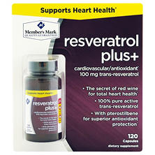 Member's Mark 100mg Resveratrol Plus+ Dietary Supplement (120 ct.)