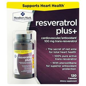 Member's Mark 100mg Resveratrol Plus+ Dietary Supplement (120 ct.)