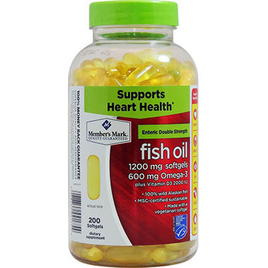 Member's Mark Double Strength Fish Oil Dietary Supplement (200 ct.)