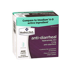 Member's Mark 2 mg Anti-diarrheal (400 ct.)