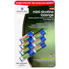 Member's Mark 4 mg Mini Nicotine Lozenge, Mint (189 ct.)