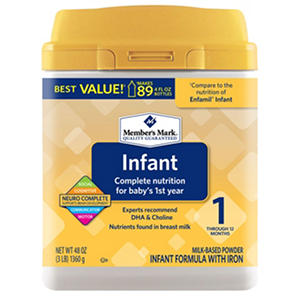 Member's Mark Infant Formula, Infant (48 oz.)