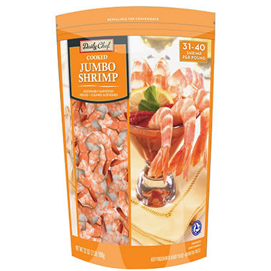 Daily Chef? Cooked Jumbo Shrimp - 2 lbs.