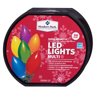 LED Diamond-Cut C9 Lights - Multicolored (50 Count)