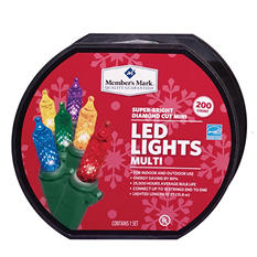 LED Diamond-Cut Mini Lights - Multicolored (200 Count)