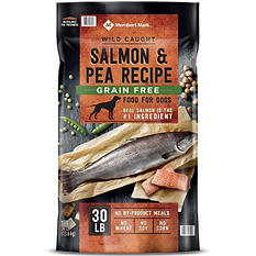 Member's Mark Exceed Grain Free Dog Food, Wild Caught Salmon & Peas (30 lbs.)