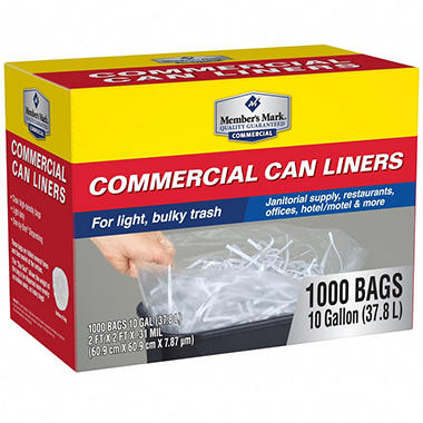ProForce Commercial Can Liners - 10 gal. - 1000 ct.