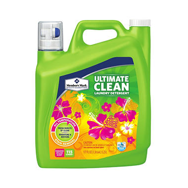 Member's Mark Ultimate Clean Liquid Laundry Detergent - Paradise Splash (177 oz., 115 loads)
