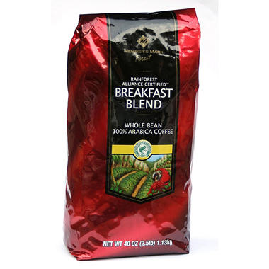Member's Mark Finest Breakfast Blend Whole Bean Coffee -  2.5 lbs.