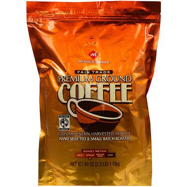 Member's Mark Fair Trade Premium Ground Coffee (40 oz.)