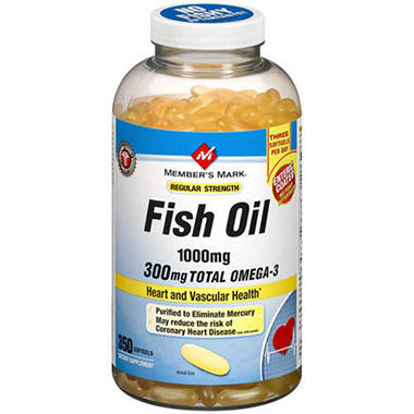 member 39 s mark fish oil 1000mg 350ct sam 39 s club
