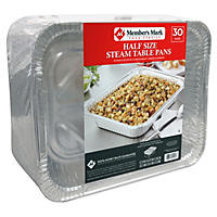Daily Chef Aluminum Steam Table Pans, Half Size (30ct.)