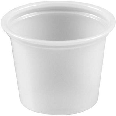 Bakers & Chefs Plastic Portion Cups - 1 oz. - 2,500 ct.