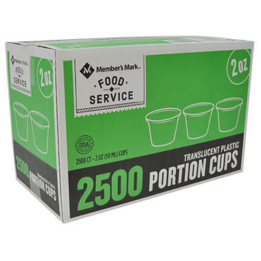 Bakers & Chefs Portion Cups - 2 oz./2500 ct.