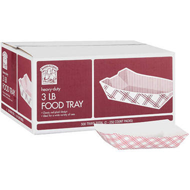 Bakers & Chefs Food Trays - 3 lb. capacity - 500 ct.