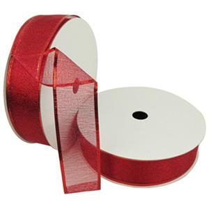 "Member's Mark Premium Wired Ribbon, Red Woven Metallic 1.5"" (2 pk., 50 yd. each)"