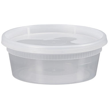 Bakers & Chefs Deli Container and Lid - 250 ct. - 8 oz. each