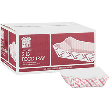 Bakers & Chefs Food Tray - 2 lb. capacity - 500 ct.