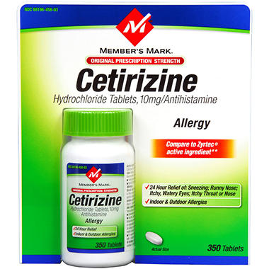 Member's Mark® Cetirizine Allergy - 350 ct.