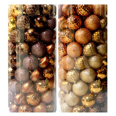Christmas Ornaments - Gold/Neutrals - 100 ct.