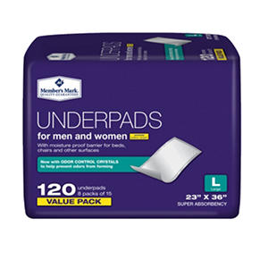 "Members Mark Underpads, 23"" x 36"" (120 ct.)"