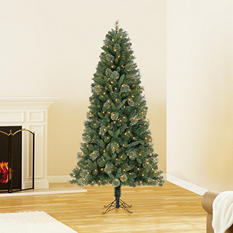 7 ft Member's Mark Artificial Pre-Lit Baytown Cashmere Spruce Christmas Tree