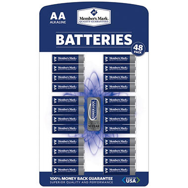 Member's Mark� AA Alkaline Batteries - 48 pk.