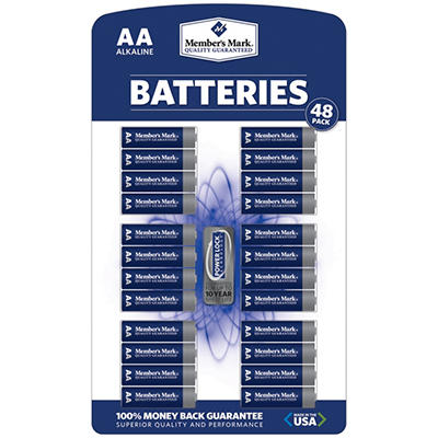Member's Mark® AA Alkaline Batteries - 48 pk.